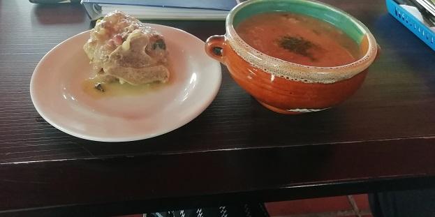 Sopa de Boyacá Cuchuco de Trigo con Espinazo de Cerdo